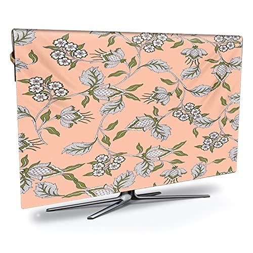 LIANYG Funda TV Exterior Impresión televisiva Impermeable, a Prueba de Aceite y Cubierta, impresión de Lujo, Resistente a la Intemperie y protección de Plasma TV Protector TV Universal Funda