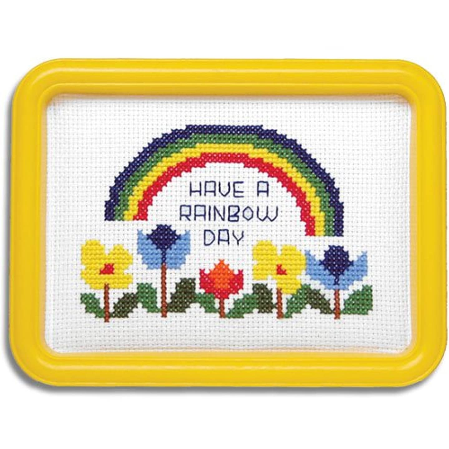 Easystreet Have A Rainbow Day with Flowers Counted Cross-Stitch Kit
