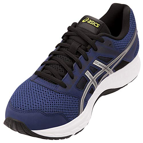 Asics Gel-contend 5, Zapatillas de Correr Hombre, Azul (Indigo Blue/Silver 401), 43.5 EU