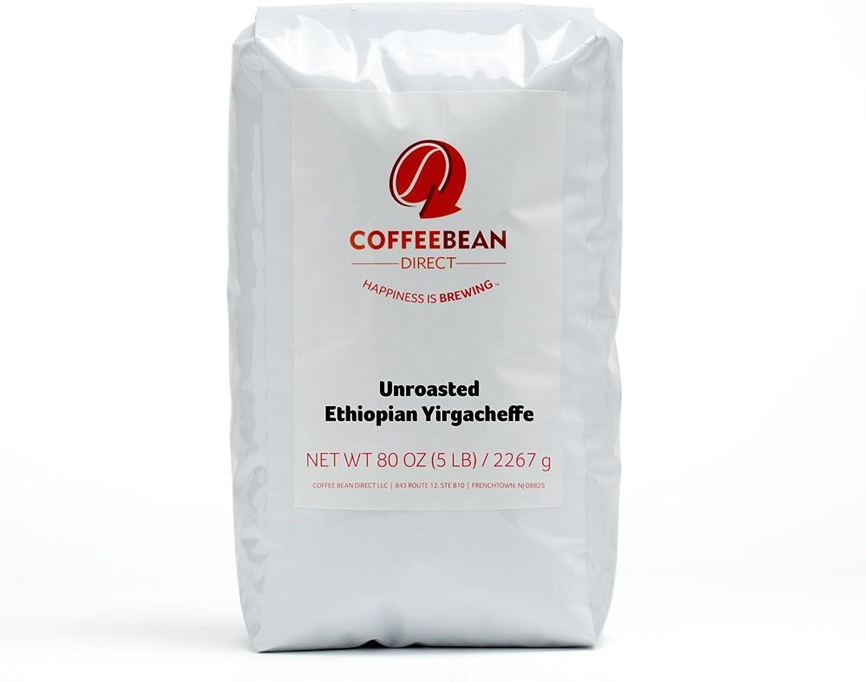 Green Unroasted Ethiopian Yirgacheffe, Whole Bean Coffee, 5-Pound Bag