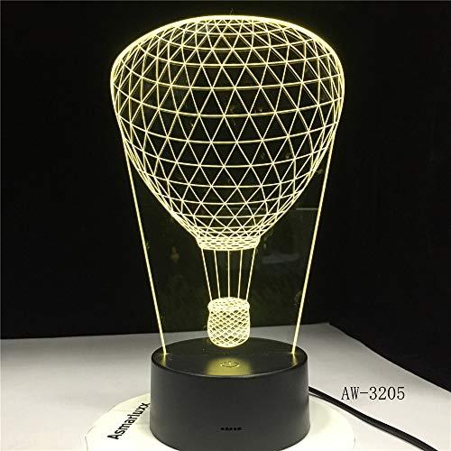 Ballon Forme Nuit lumière Lampe de Table Couleur dégradé créatif Illusion d'optique Lampe décoration Cadeau