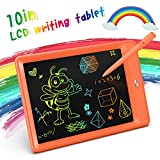 KOKODI LCD Writing Tablet, 10 Inch Toddler Doodle Board Drawing Tablet, Erasable Reusable Electronic Drawing Pads, Educational and Learning Toy for 2-6 Years Old Boy and Girls (Orange)