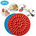 Ymmsuuie Dog Lick Mat, 2PCs Dog Lick PatSlow Feeder Distraction Device with Suction Cup for Pet Bathing, Grooming and Training