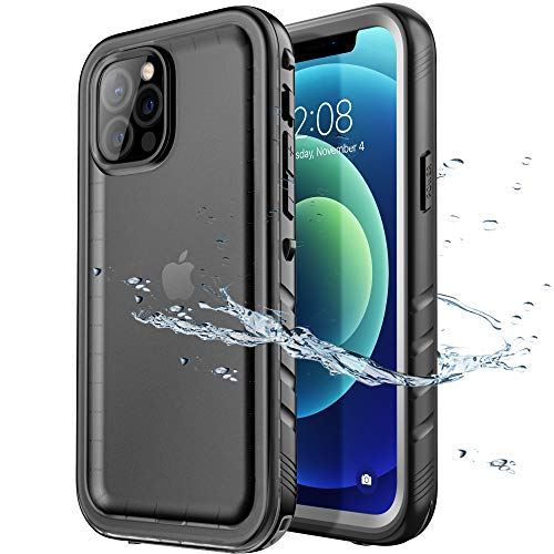 SPORTLINK Compatible with iPhone 12 Pro Max Waterproof Case - Full Body Shckproof Dustproof Phone Screen Protector Rugged Cases for iPhone 12 Pro Max 6.7 Inches Black