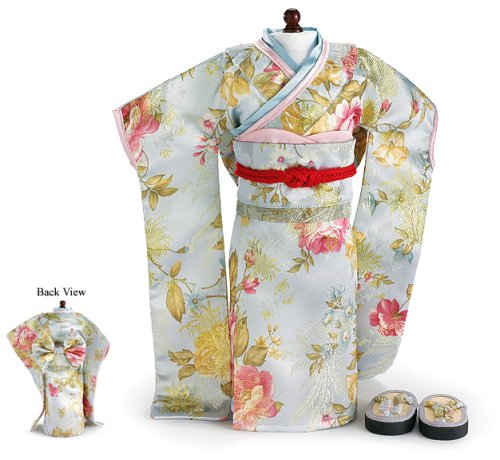 CARPATINA Doll Clothes Sun Japanese Kimono, OBI Sash and Sandals Fit 18' American Girl Dolls