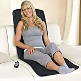 Massagematte mit Wärmefunktion 5 Vibrations-Massagemotoren für eine Ganzkörpermassage 3 Massagezonen für Nacken, Rücken und Beine 2 Intensitätsstufen individuell einstellbar