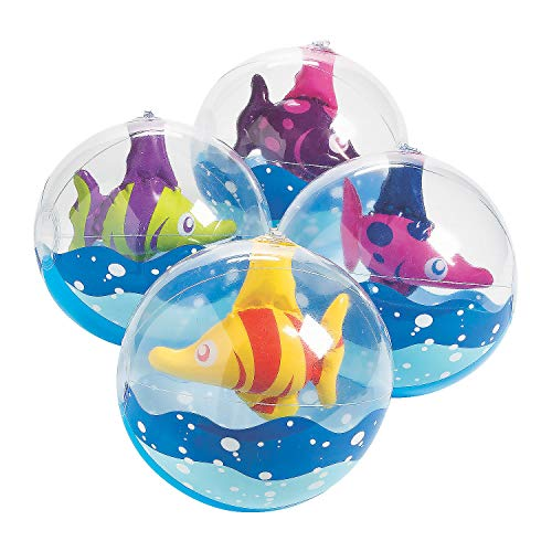 Inflatable Tropical Fish Beach Balls (Set of 12) 11 Inch Inflated