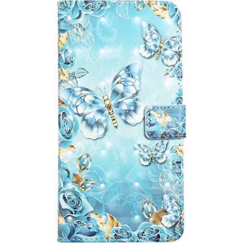 Marmor Handyhülle für Samsung Galaxy A80 / A90 Klapphüllen Magnetische Hülle Wallet Cover Cases Tasche Handy Schutzhülle flipcase Ledertasche Klappbar mit kartenfächer Ständer 3D Effekt Marmor
