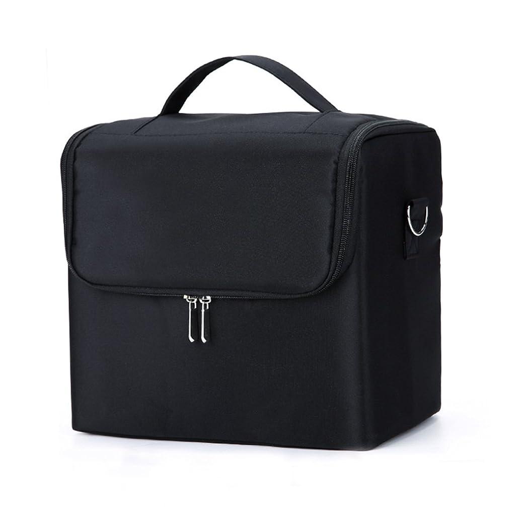 ポータブルファブリックメークアップケースプロフェッショナル化粧ケース多機能ブラシネイルメイクアップアーティストストレージバッグ