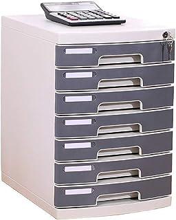 KANJJ-YU 7-couche plastique cosmétique bureau tiroir, Rangement Organisateur tiroir verrouillable Sorter A4 Box for Office...