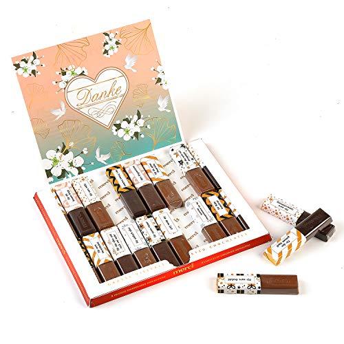 Aufkleber-Set passend für Merci Schokolade mit vorgedruckten und blanko Aufklebern (Danke PAPA-Mama)