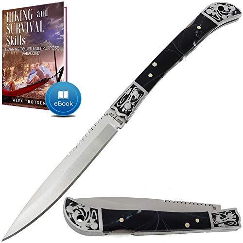 Pocket Knife for Men - Folding Navaja Knife - EDC Fold Knives Classic Sharp Blade Plastic Handle Knofe - Best Strong Pocket Utility Knife for Urban Camping Hiking Boy Scout Knifes - Gift for Men 806 A