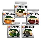 Tassimo Kapseln, Probierbox mit 5 Sorten für 64 Getränke, 5er Vielfaltspaket