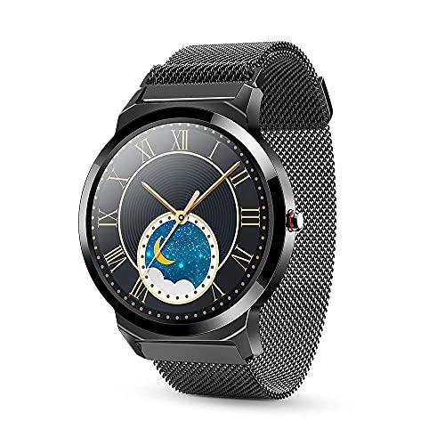 KDMB Smart Watch 1,28 Zoll Vollkreis Full Touch TFT HD IPS-Farbbildschirm Smart Watch Herzfrequenz Schlaf Blutdruck Gesundheitsüberwachung Laufen Sport Schrittzähler WatchA