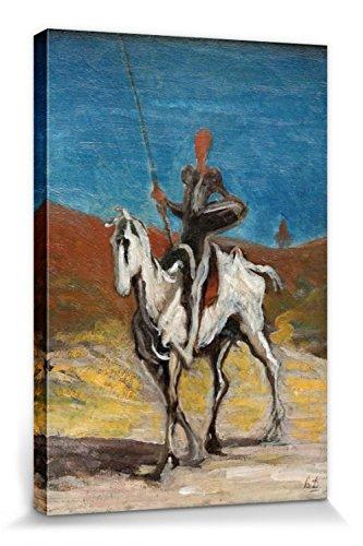 1art1 Honoré Daumier - Don Quijote Y Sancho Panza, 1868 Cuadro, Lienzo Montado sobre Bastidor (30 x 20cm)