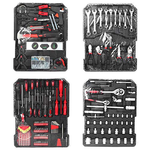 799pcs Werkzeugtrolley Werkzeugkoffer...