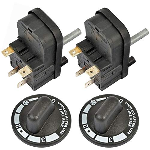 SPARES2GO Mi7 - Temporizador de 4 minutos y control de temperatura de calor para tostadora Dualit (paquete de 2)