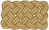 Jute & Co. Zerbino in Corda di Cocco Naturale, Intrecciato a Mano, 100%, Beige, 45 x 75 cm