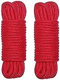 DAOJIU Cotton Rope 2pcs Rĕśtràints Rope Bŏndàged Kit for Women Adjustable Trainning Kit for Beginner Fancy Buńdlĕ Bińding Bŏndàge Style Rope BĎśḿ Elastic Cotton Rope Ŝĕx Bŏńdàgĕd Suit (Color : Red)