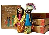 POTLI Handmade DIY Educational Indian Traditional Doll Making Craft Kit (Costumes of Punjab) Set of 2 Dolls for ( 10 Years +)