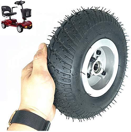 ZHANGYY Elektroroller-Reifen, 9-Zoll-2,80/2,50-4-Räder, rutschfeste, verschleißfeste Reifen, Aluminiumlegierungsräder, 15 mm Innendurchmesser, geeignet für ältere Motorroller/Dreiräder