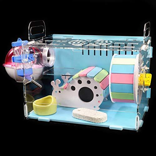 PowerBH Caracol Modelado Hamster Dormitorio Color Nido Juguete De Madera Pequeña casa Hamster Dormir Juego de Entretenimiento Casa de Juguete Hamster