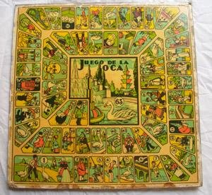 Lámina juego - Game Sheet : JUEGO DE LA OCA / PARCHIS