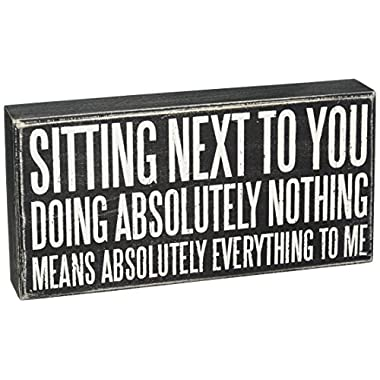 Primitives by Kathy 21465 Classic Box Sign, 10  x 5  x 1.75 , Sitting Next to You