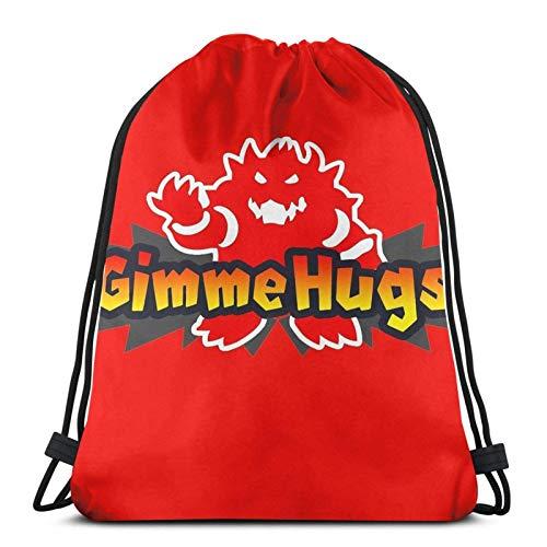 WH-CLA Drawstring Bags Gib Mir Umarmungen! Kordelzug Taschen Einzigartige Outdoor-Gym Mode Print Geburtstagsgeschenke Cinch Taschen Langlebige Spezielle Sport Anime Männer Yoga Leichte Ko