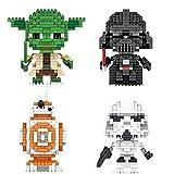 Flytoo Star Wars Nano Mini Kits de Bloques de construcción Niño Educativo 3D Rompecabezas DIY Modelo Ladrillo Juguete Regalos adecuados para la colección, Regalos de cumpleaños (Master Yoda)