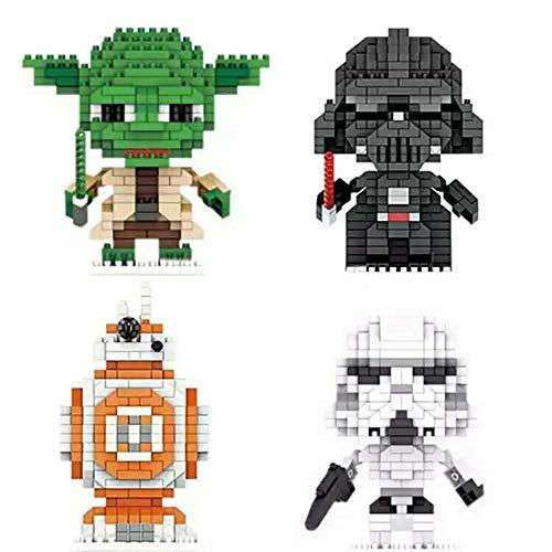 Flytoo Star Wars Nano Mini Kits de Bloques de construcción Niño Educativo 3D Rompecabezas DIY Modelo Ladrillo Juguete Regalos adecuados para la colección, Regalos de cumpleaños (VV-8)