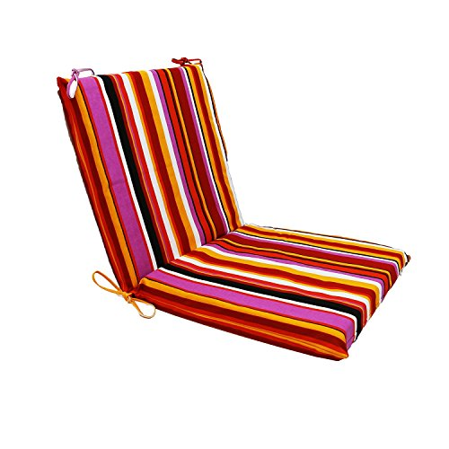 Magshion Made USA Dining Outdoor Pillow Chaise Lounge Comfort Seat Cushion Pad- Rainbow Red