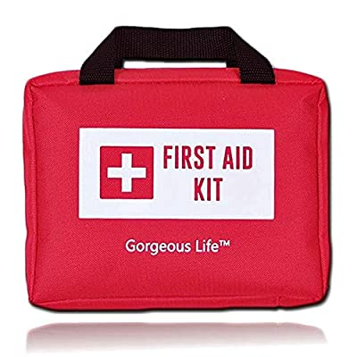 First Aid Kit -205 Pieces-All Purpose for Emergency and Survival Situations, Backpacking, for Home, Car, Camping, Hiking, Travel and Sports