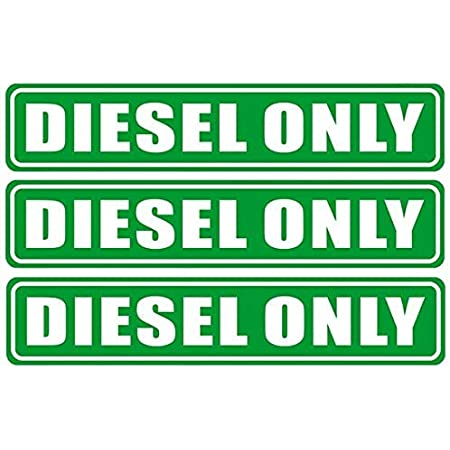 6.25 X 1.25 Mixed Fuel Only Notice Warning Caution Label Sticker Decal for Fuel Gas Can Car Vehicle Tank Back Self Adhesive Vinyl 3 Pack Outdoor//Indoor