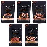 Biryani Pav Bhaji Meat Curry Sambar & Garam Masala 100% Natural No Preservatives 125 g (Pack of 5) ( Chili Powder)