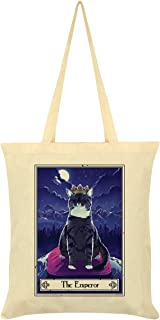 Deadly Tarot Felis - The Emperor Tote Bag Cream 38 x 42cm