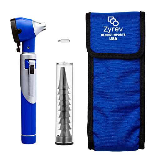 ZetaLife Otoscope - Ear Scope with Light, Ear Infection Detector, Pocket Size (Blue Color)