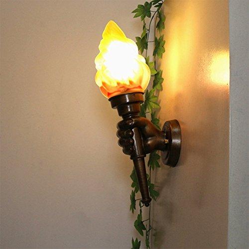 OOFAY Wall Light@ Retro Applique Murale Personnalité Creative Porte-Flambeau Industriel Vent Restaurant Bar Café Chambre Décoration E27 [Classe Énergétique A+++],Righthand