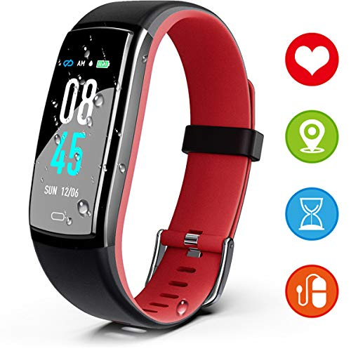 JAZIPO Fitness Bracelet with Heart Rate Monitor Blood Pressure Waterproof IP67 Fitness Tracker Smartwatch GPS Activity Tracker Heart Rate Monitor Blood Pressure Monitor Vibration Alarm Call SMS