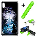 [Ashley Cases] for Galaxy [A10e][A10E] Cover Case Skin with Flexible Phone Stand - Alice in Wonderland Cave