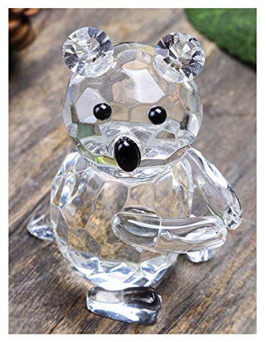 YU FENG Figuras de oso de cristal Adornos de cristal coleccionables para...