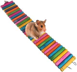 Tfwadmx Hamster Rainbow Bridge, Rat Bridge, 20X2In Flexible Hamster Climbing Ladders, Wood Bridge for Guinea Pig Chinchilla Chipmunk Sugar Glider Gerbil Mice Squirrel
