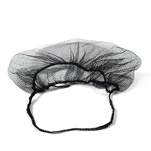 OKEKON 100 Pack Economical Disposable Beard Net/Protector Bouffant Non-woven,Latex Free for Food Service and Kitchen Sanitary Supplies,Beard cover Lightweight & Breathable Fits Most Men (Black)
