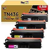 ONLYU Compatible Toner Cartridge Replacement for Brother TN436 TN431 TN433 for HL-L8360CDW MFC-L8900CDW HL-L8360CDWT HL-L8260CDW MFCL8610CDW MFCL9570CDW Printer (1Black,1Cyan,1Magenta,1Yellow)