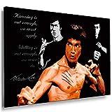 Boikal / Leinwand Bild Bruce Lee Kampfsportart Jeet Kune Do