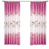 Blanketswarm 1 panel de cortinas con estampado de mariposas, decoración de...