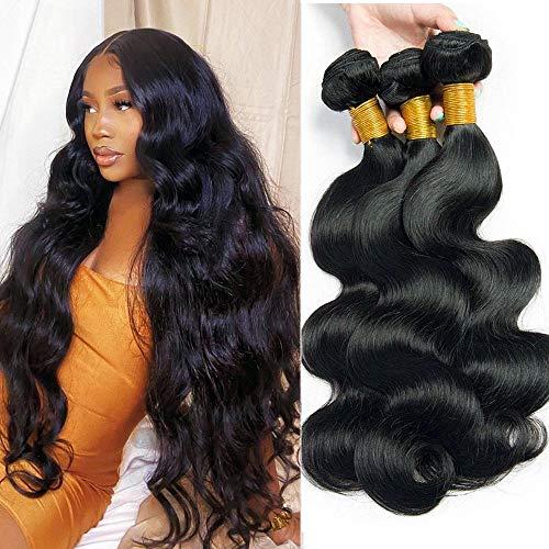 Mariska 10A Body Wave Bundles Human Hair 3 Bundles (14 16 18) Unprocessed 100% Brazilian Virgin Hair Weave Bundles Human Hair Bundles Remy Human Hair Extensions