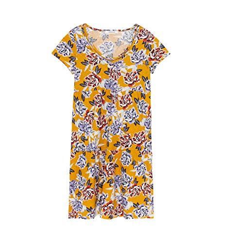 Promod Kleid aus weichem Jersey Ocker Gemustert L