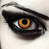 "Designlenses, Dos lentillas de colores naranjas para Halloween hombre-lobo costume lentes de tres meses sin dioprtías/corregir + gratis caso de lente ""Orange Werewolf'"