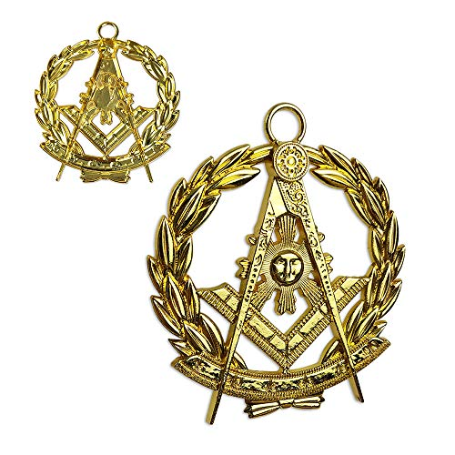 Masonic Past Master Chain Collar Jewel Gold Plated
